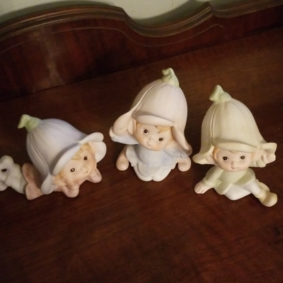 Other - Vintage Homco Trio of Pixies/Elves w/ Flower Hats